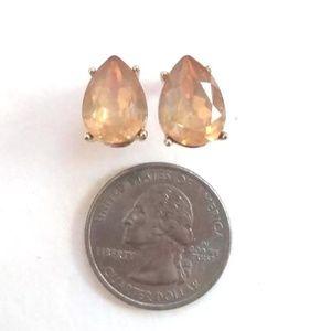 Smokey peach stud earrings
